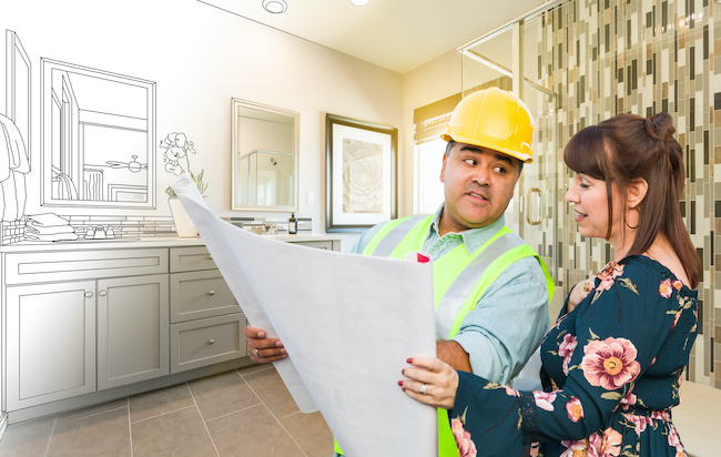 Home Improvement Contractor and Client